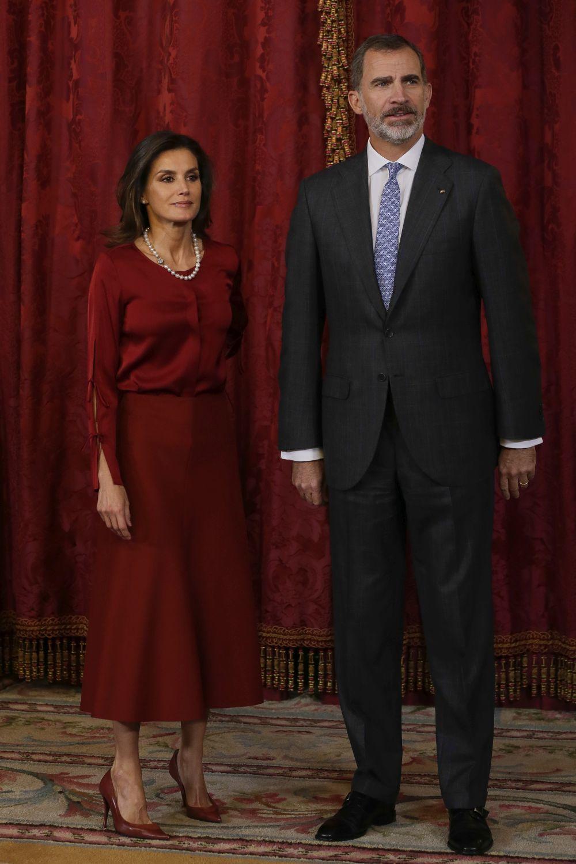La Reina Letizia junto a Felipe VI.