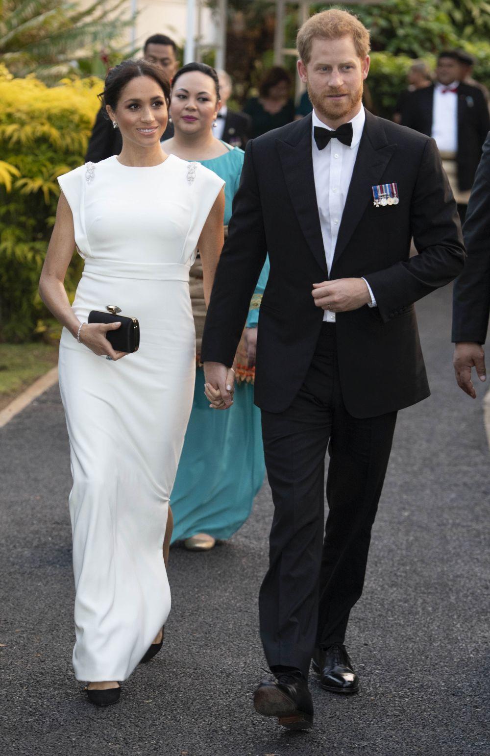 Los Duques de Sussex en Tonga.