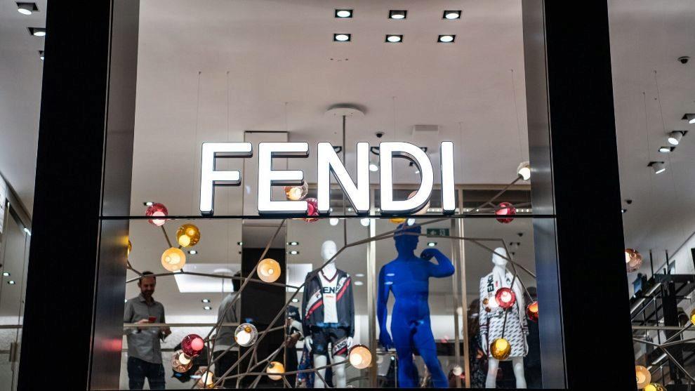 Escaparate de la tienda FENDI  en Barcelona.