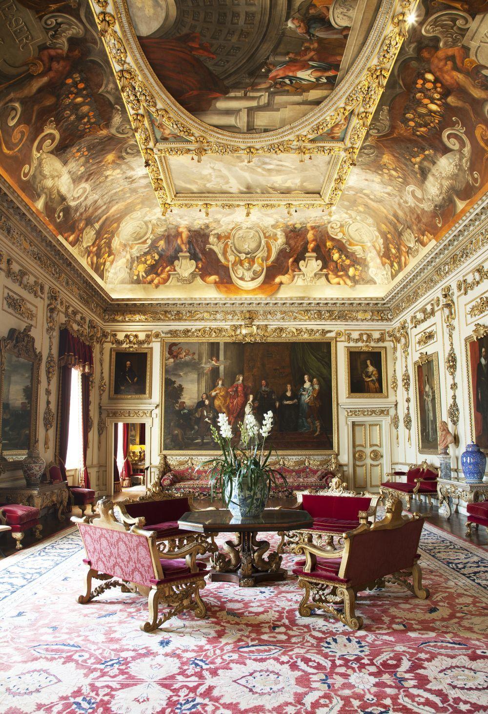 El señorial salón Double Cube,  en Wilton House, sirvió de marco al...