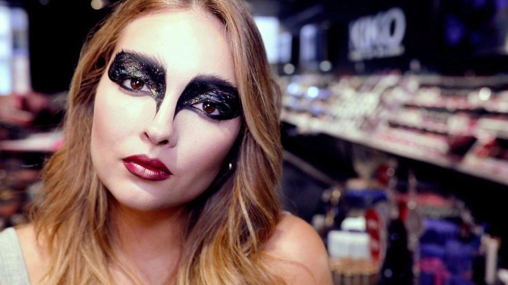 Maquillaje Cisne Negro Para Halloween Telvacom - Maquillaje-halowin
