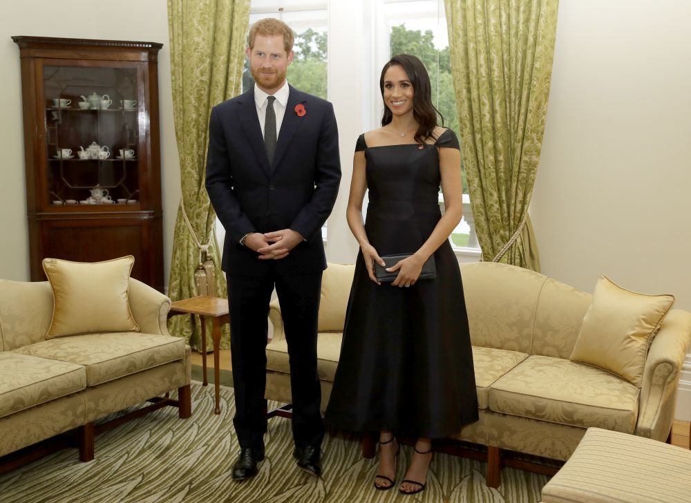 El príncipe Harry y Meghan Markle en su visita a Wellington, Nueva...