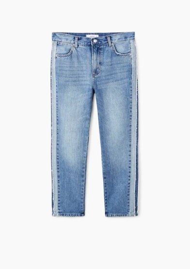 Jeans straight  (29,99 euros).