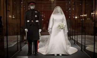Los vestidos de los novios, en la exposición Royal Collection, el...