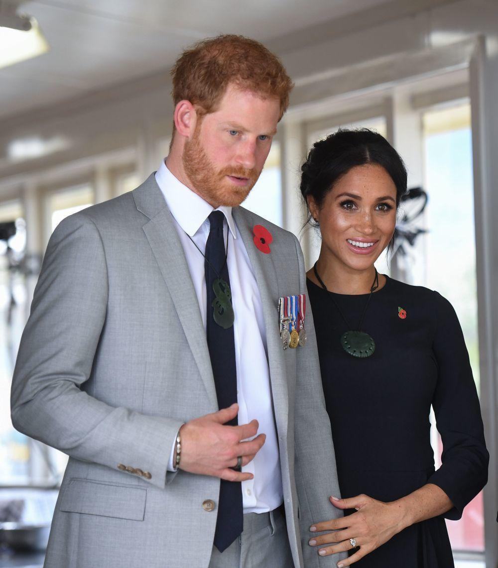 Meghan Markle y el príncipe Harry en Nueva Zelanda.
