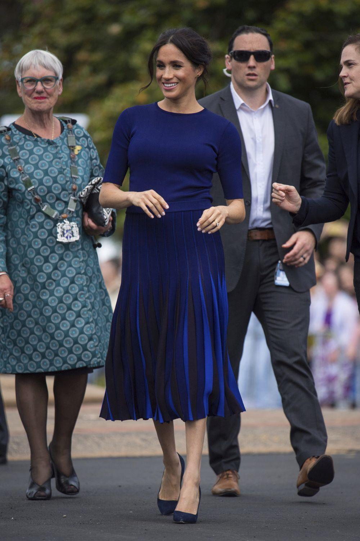 La Duquesa de Sussex con un diseño de Givenchy.