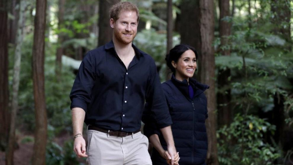 Meghan Markle y el príncipe Harry en Nueza Zelanda.
