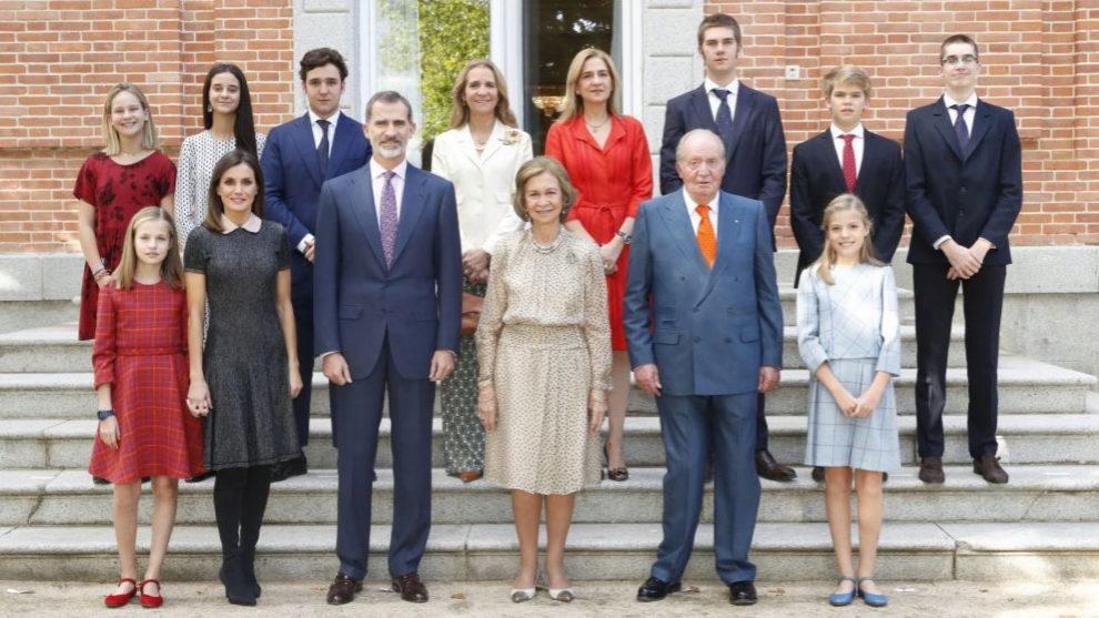 La Familia Real Española en La Zarzuela con motivo del 80 cumpleaños...