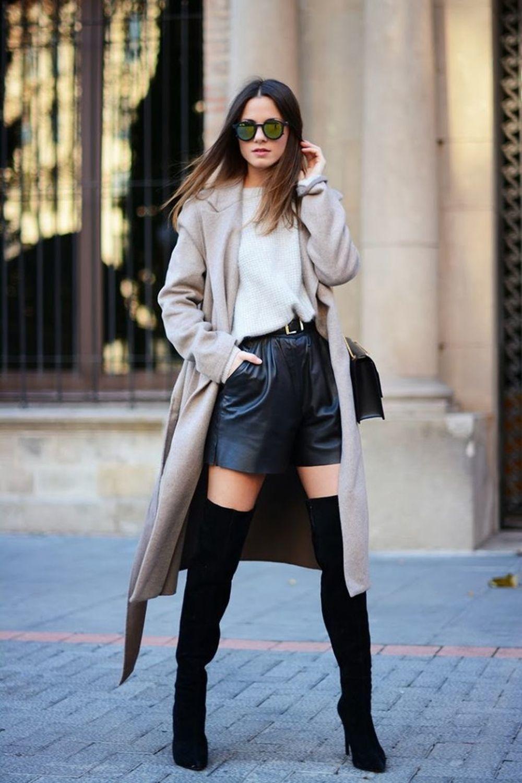 El short de cuero en el street style.