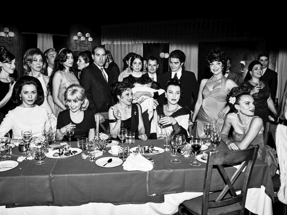 Escena que recrea la fiesta del bautizo de Antonio Flores (1961).