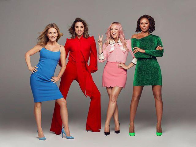 Imagen promocional de las Spice Girls para su nueva gira.