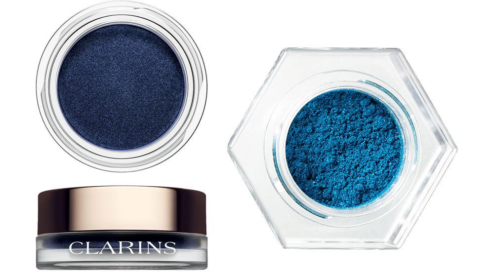 Sombra de ojos Midnight Blue, Clarins (26,50 euros) y sombra Glacier...