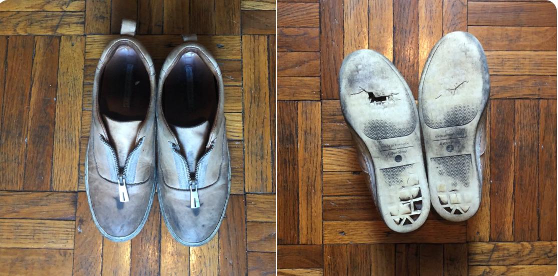 Imagen extraída del Twitter de Ocasio, con los famosos zapatos...