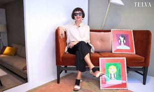 La diseñadora Lydia Delgado en la pop up que inaugura en Madrid.