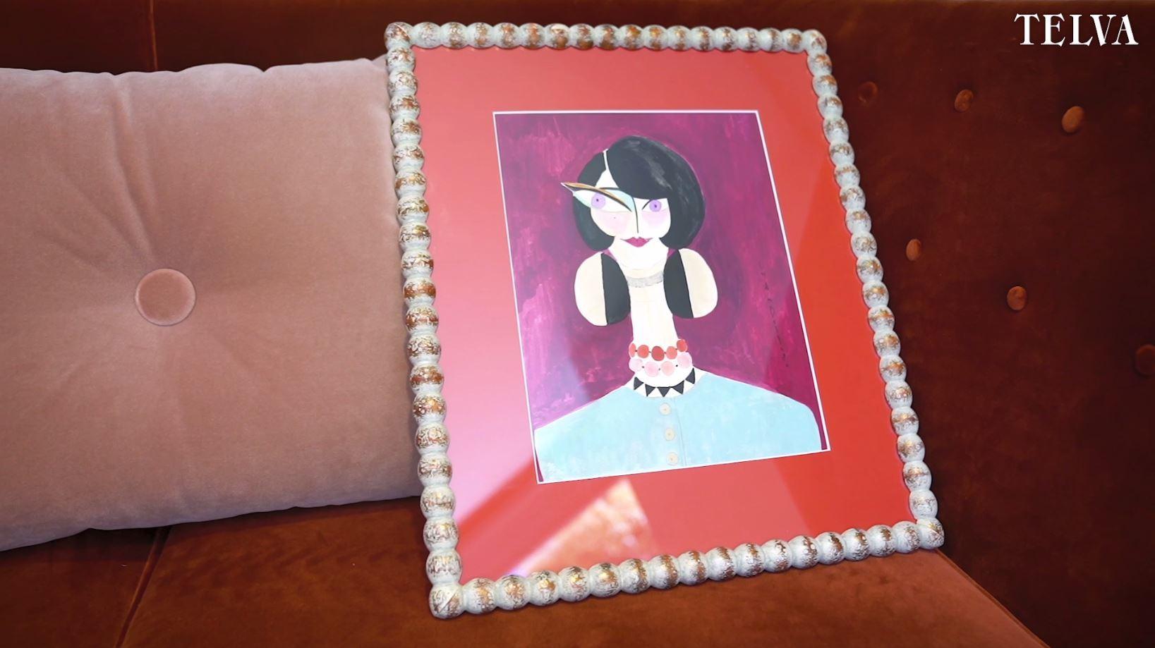 """Uno de los cuadros de Lydia Delgado, a la venta en su """"pop up store""""."""