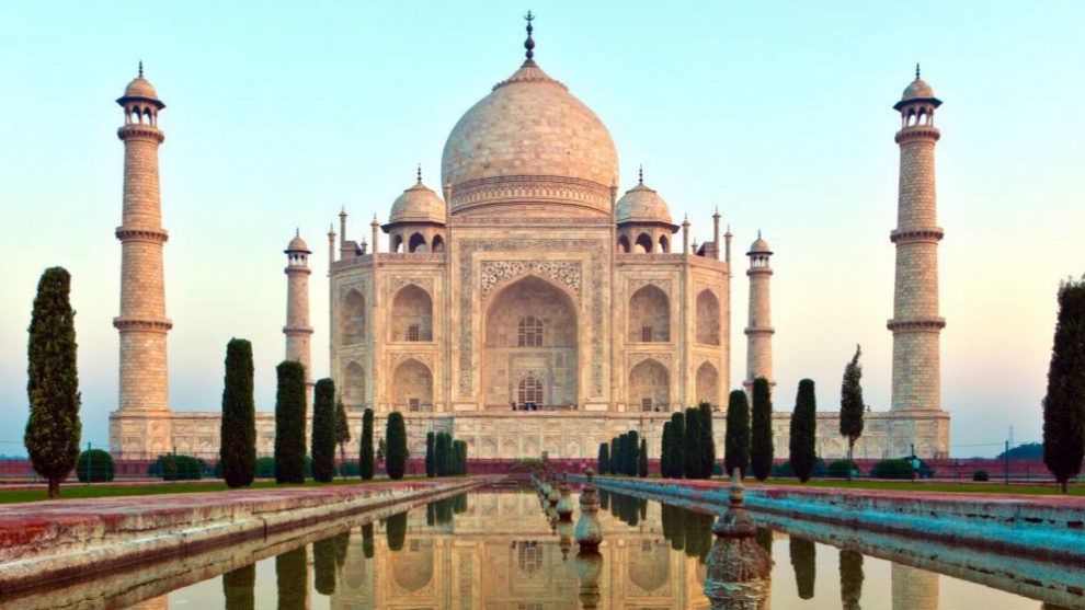 El Taj Mahal, una de las 7 maravillas del  mundo.
