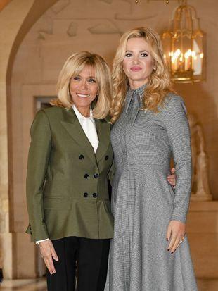 Brigitte Macron y Monika Babisova en el centenario del armisticio en...