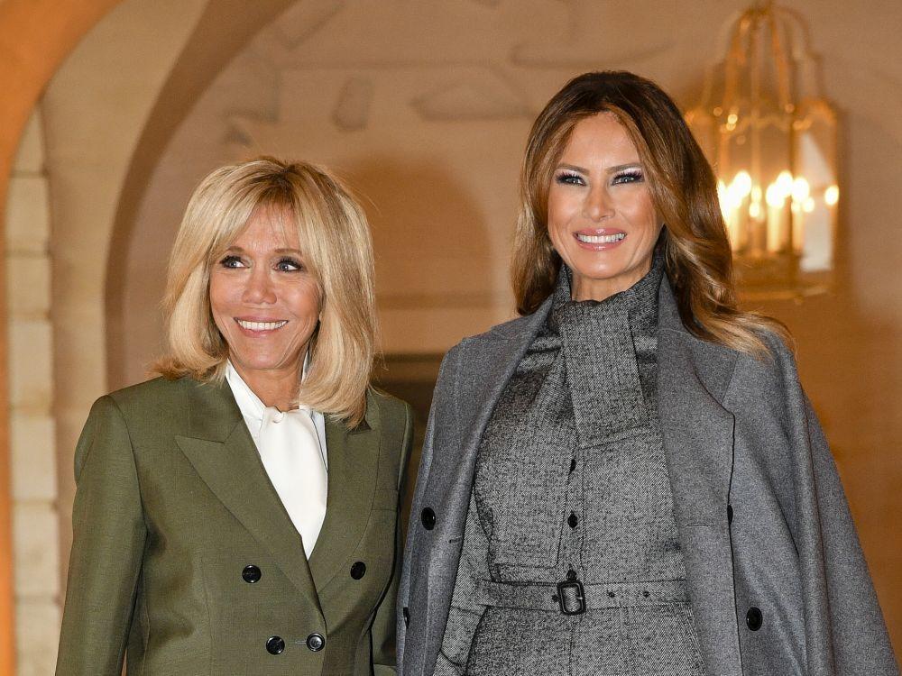 Brigitte Macron y Melania Trump en el centenario del armisticio en...