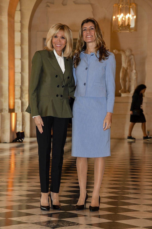 Briggite Macron junto a Begoña Gómez.
