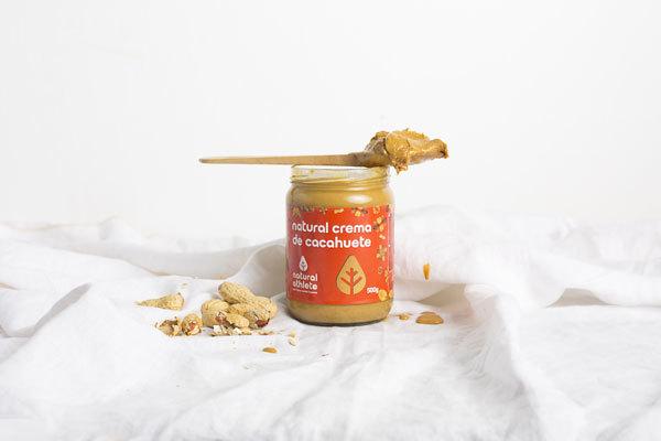 Crema de cacahuete de Natural Arhlete, inspirado en la dieta paleo.