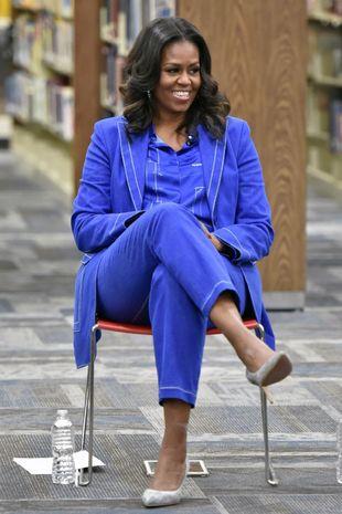 Michelle Obama en una de las presentaciones de su libro en EE.UU.