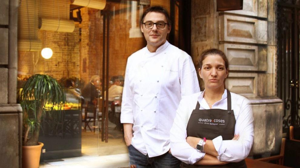 Oriol Balaguer inaugura el restaurante Quatre Coses en Barcelona.