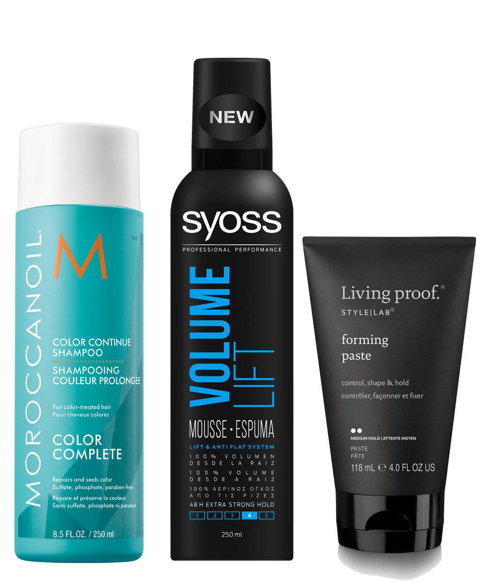 Color Continue Shampoo, Moroccanoil (C.P.V.); Espuma Volume Lift de...