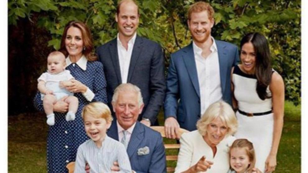 Fotografía familiar de los Windsor.