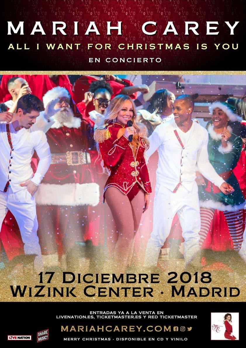 Mariah Carey en concierto en Madrid 2018