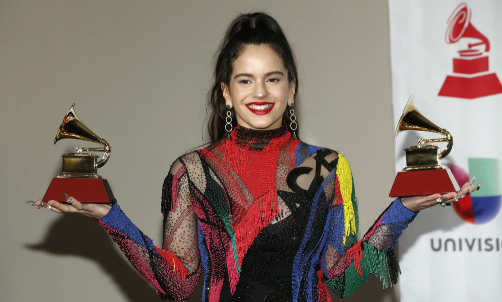 Rosalía en los Grammy Latinos 2018 con sus dos galardones