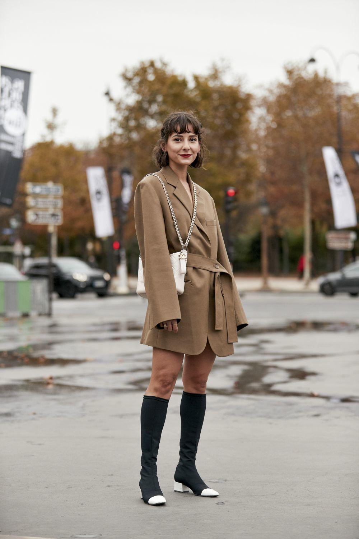 ¿Te atreves a llevar la blazer con botas XL?