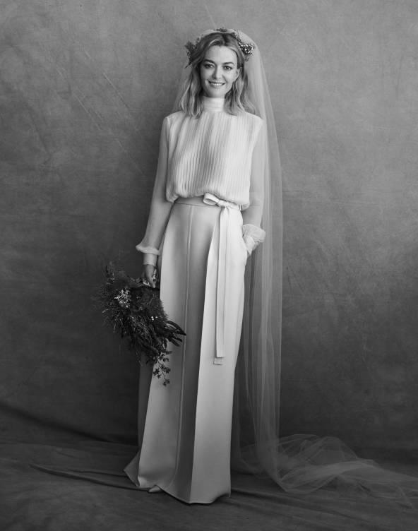 Marta Ortega lució un original traje de dos piezas de Valentino.