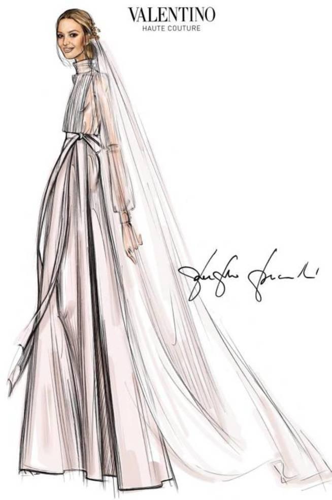 Pierpaolo Piccoli firma el original diseño de novia de Marta Ortega.