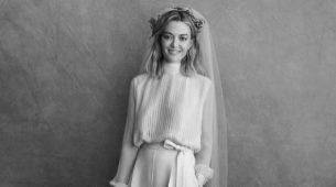 Marta Ortega luci� un original traje de dos piezas de Valentino.