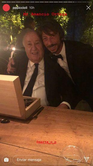 Pierpaolo Piccioli con Amancio Ortega.