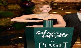 Jessica Chastain en la inauguración de las luces de navidad en las...