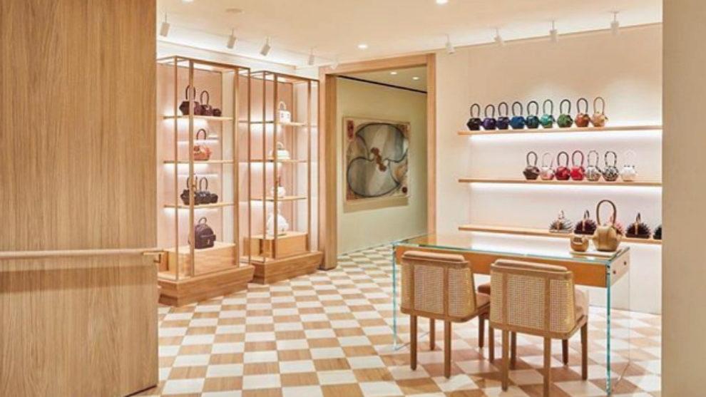Interior de la boutique de Gabriela Hearst en Nueva York.