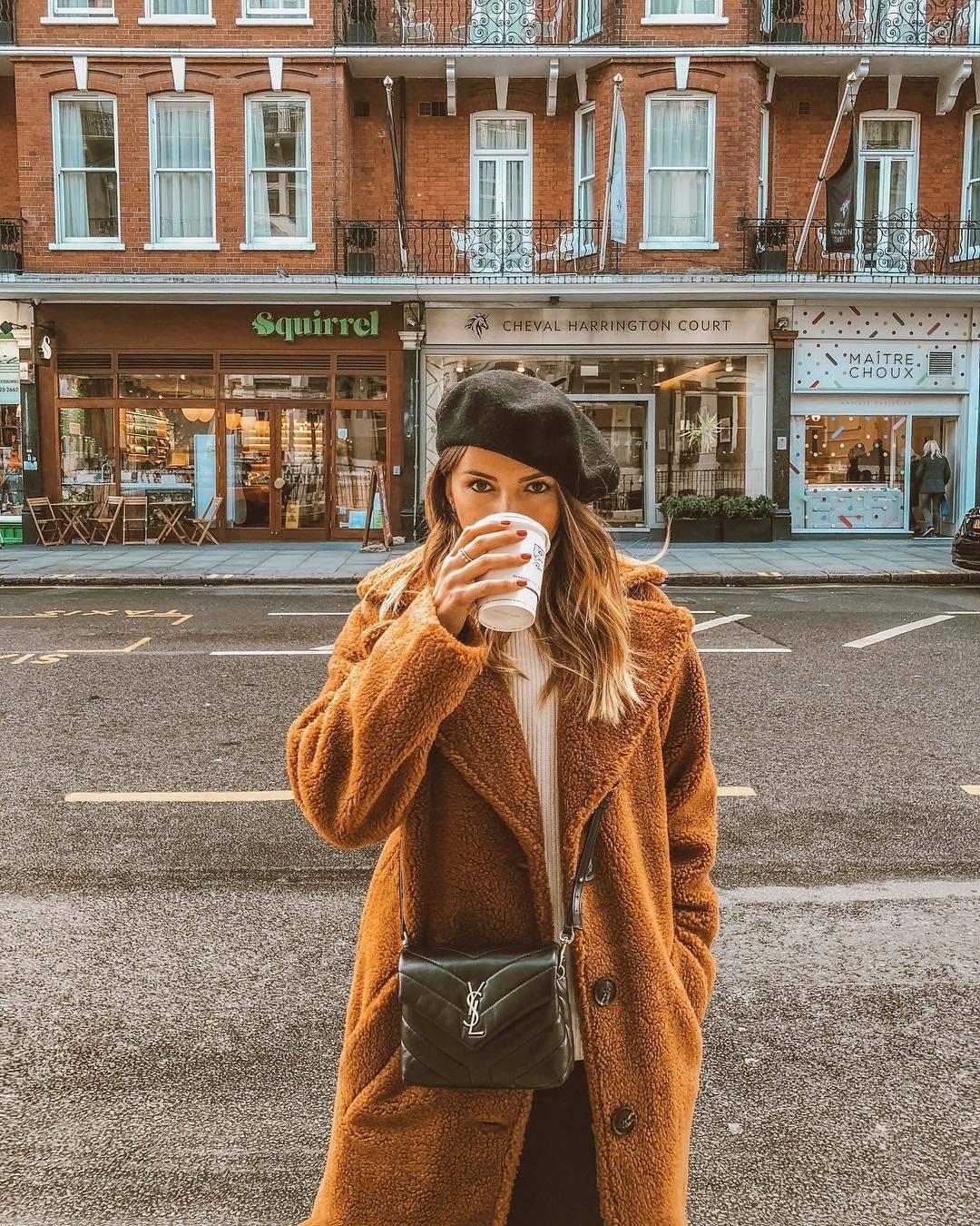 Alexandra Pereira disfrutando de su viaje a Londres