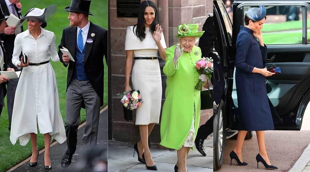 De izquierda a derecha, en Royal Ascot, junto a la reina Isabel II y...