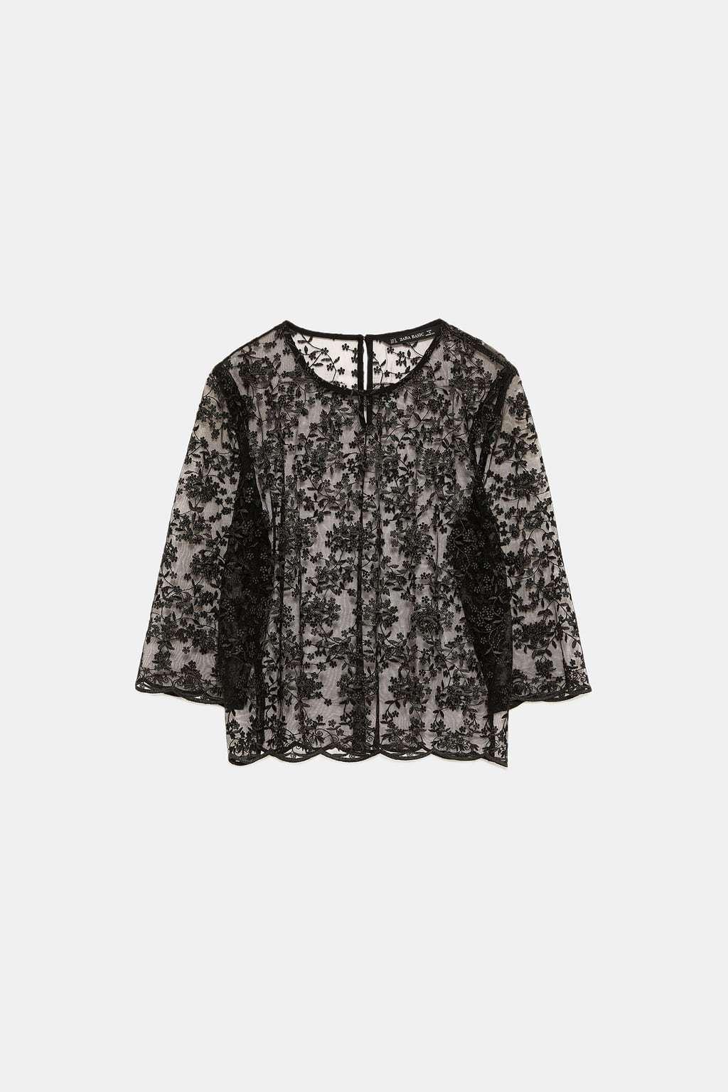 Cuerpo de tul bordado, de Zara  25,95 euros