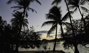 Vista desde la isla de Tahití.