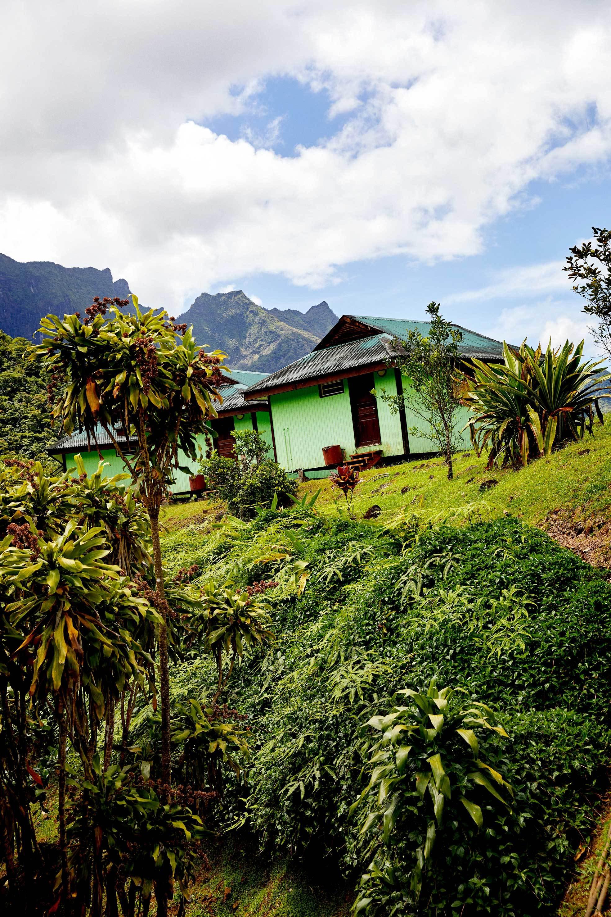 El restaurante RELAIS DE LA MAROTO  en el interior de Tahití.