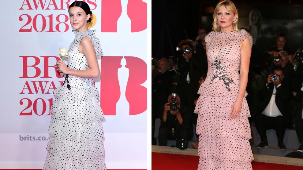 Millie Bobby Brown y Kirsten Dunst con el vestido de Rodarte de la...