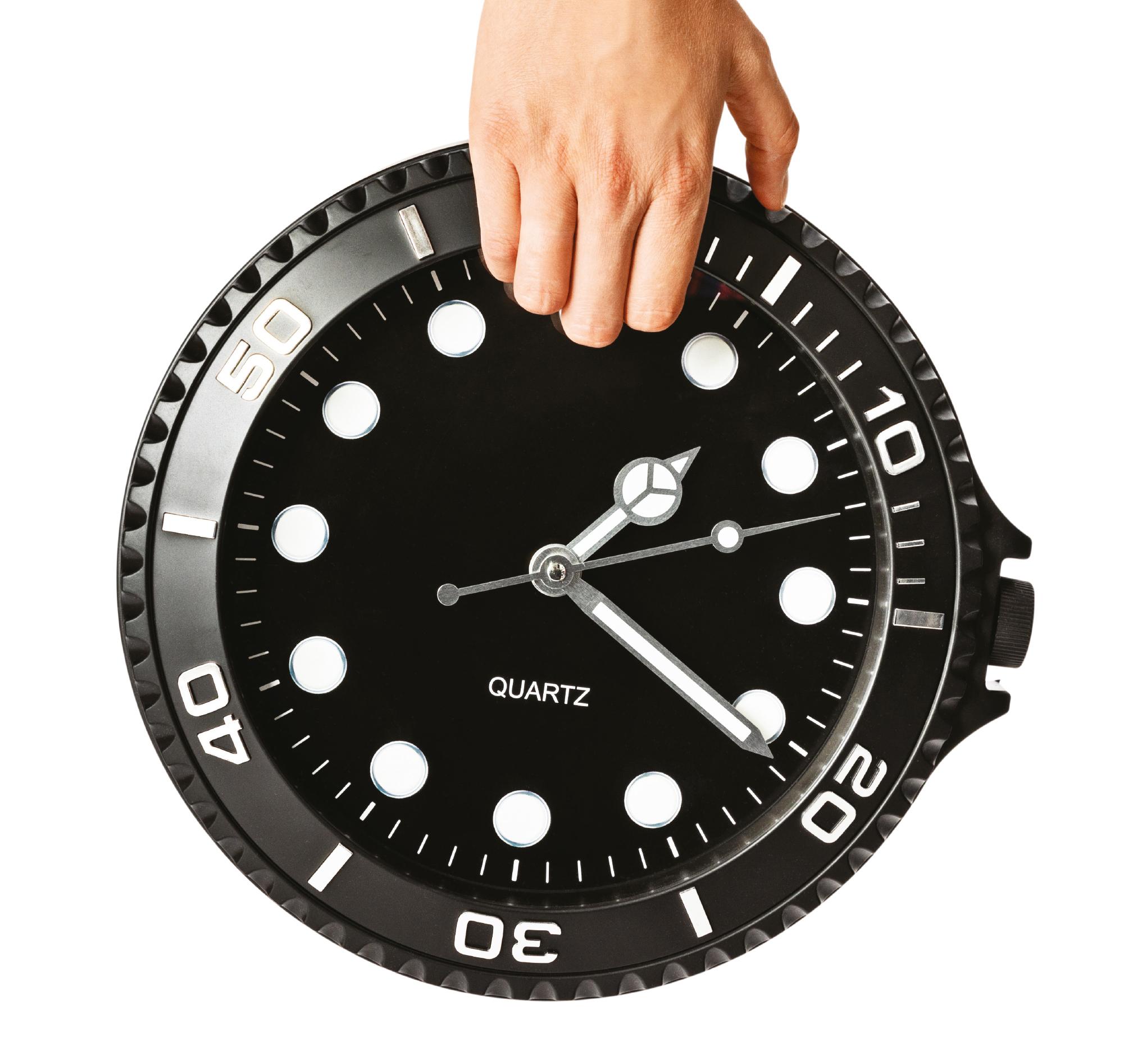 Reloj de pared de Flying Tiger. 7 euros.