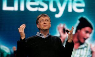 Bill Gates durante una conferencia de Microsoft