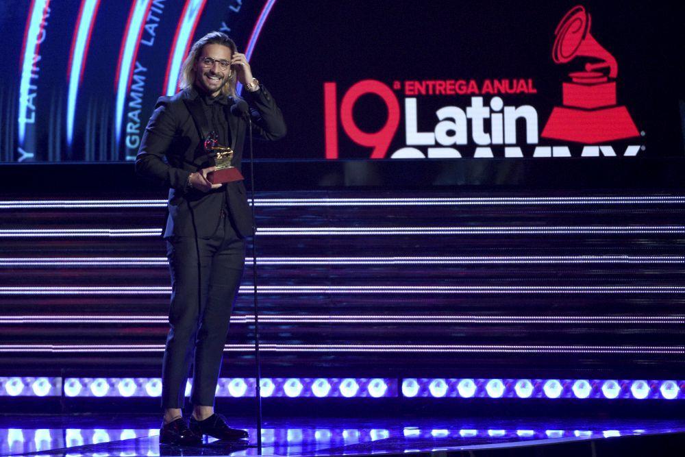 Maluma fue premiado en los Grammy Latinos de la pasada edición