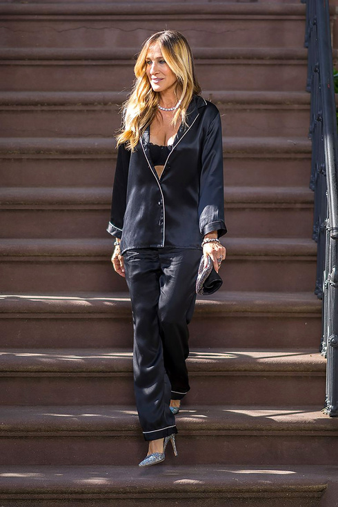 Sarah Jessica Parker con un pijama de Intimissimi