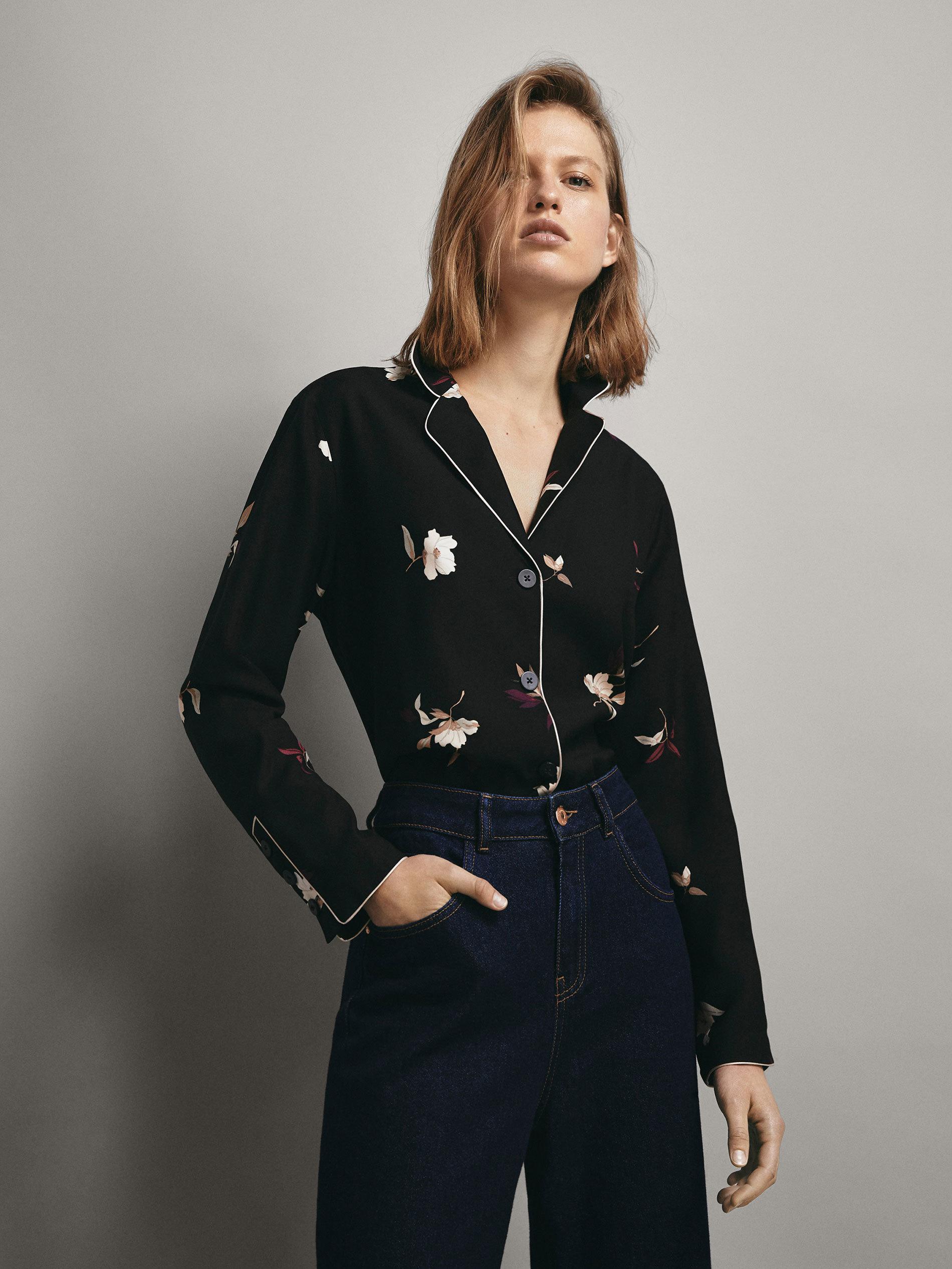 Camisa de pijama de Massimo Dutti.