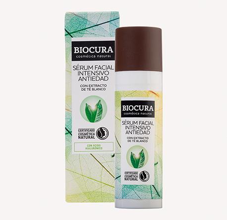 Sérum facial intensivo antiedad de Biocura, a la venta en Aldi.