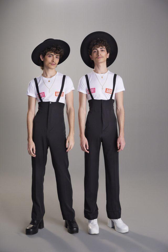 Los gemelos Peitado en la campaña de la colección cápsula de Ana...